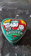 1998 Target Snowden & Friends Raggedy Ann & Andy Heart Shaped Candle Tin Unused