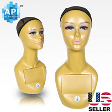 """Realistic Plastic Female MANNEQUIN head lifesize display wig hat 18"""" A3"""