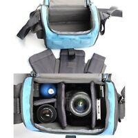 pangshi Blue Camera bag case for Canon 650D 600D 1100D 550D 450D 400D 500D 5D 7D