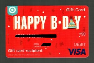 TARGET Happy Birthday 2018 Gift Card ( $0 - Collectible Card Only )