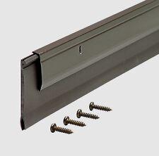 """New! 05652 M-D BUILDING PRODUCTS 36"""" DELUXE DOOR SWEEP ALUMINUM & VINYL BRONZE"""