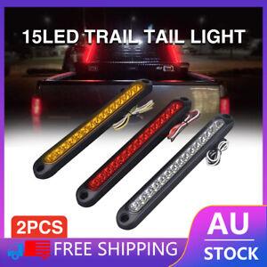 6pcs Tray Back Ute 15LED Trail Tail Lights For MAZDA TOYOTA ISUZU HILUX MITSUBIS