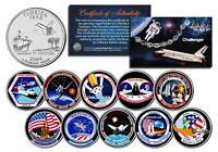 SPACE SHUTTLE CHALLENGER MISSIONS Colorized Florida Quarters US 10-Coin Set NASA