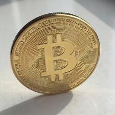 Bitcoin 1oz Gold Metal Collectable Coin. Collectable Token Poker Card Guard. NCV
