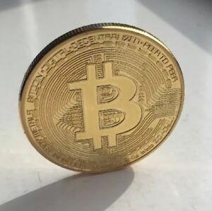 Bitcoin 1oz Gold Metal Collectable Coin. Collectable Blockchain Miner NCV