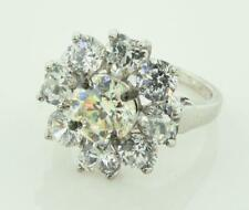 Cubic Zirconia Ring Sz 7 ~83620 Sterling Silver 925 Round & Heart Stone