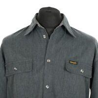 Vintage WRANGLER Polyester-Cotton Shirt | Men's M | Western Retro Cowboy