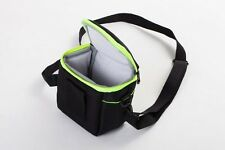 Etui Caméra Camcoder noir-vert pour Canon Powershot SX540 HS