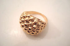 Gold Tone Round Bubbles Style Statement Ring Size U