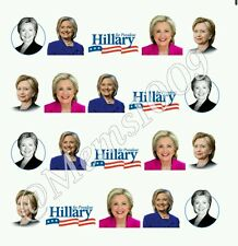 Hilary Clinton nail art water decals Free shipping!!