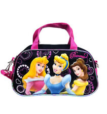 Disney Princess Aurora, Belle & Cinderella Girls Kids Pink/Black Hand Bag
