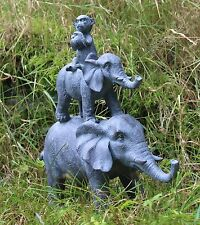 Elephant Monkey Garden Ornament Outdoor Indoor Statue Animal Decor Sculpture 30c