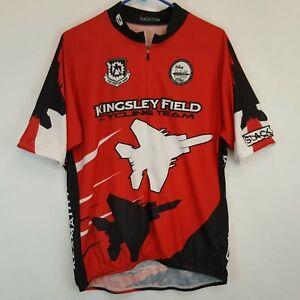 Kingsley Field 173rd Fighter Wing Cycling Team Klamath Falls Jets Jersey Sz 2XL