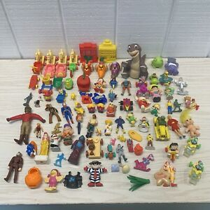 Vintage '74-'99 Lot Of 94 Toys McDonalds Arbys Beetlejuice Looney Tunes & More