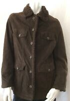 Columbia Men's Size Medium Brown Leather Sherpa Lined Jacket Coat NWOT