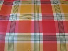 """New Red Yellow Green Pink Checked Fabric 1 yard by 112"""" Wide"""