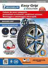 CATENA NEVE CALZA MICHELIN EASY GRIP EVOLUTION OMOLOGATA ITALIA 195/65 R16 EVO7