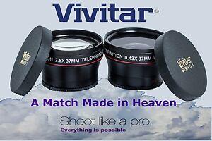 2-Pc HD Lens Telephoto & Wide Angle lens Set For Panasonic Lumix DMC-GM5