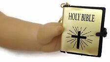 Mini Gold Bible Key Chain made for 18 inch American Girl Dolls Accessories