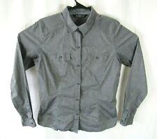 Arcteryx Button Up Shirt Womens XL Long Sleeve Dual Pocket Gray