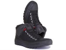 Converse Chuck Taylor allstars Mens Black Mesh Nylon Hi Top Trainer Boot uk 13