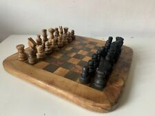 Wooden Chess set and board Handmade Carved, Game