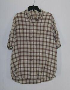 Duluth Trading Co Mens Work Shirt XL Hemp Organic Cotton Blend Button Up