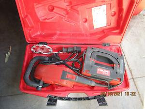 "HILTI  DG150 6"" diamond grinder professional kit w/2 blades COMBO & USED  (792)"