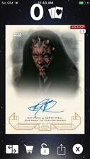 Topps Star Wars Digital Card Trader Galactic Heritage TPM Darth Maul Signature