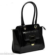 Serenade Silhouette Black Patent Leather Handag (SH64-0569)