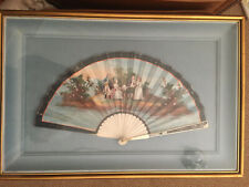 Antique Hand Fan C1800 Eventail Ventaglio Framed French? Harpsichord