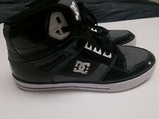 DC HighTop Sneaker 302523 Men 9.5 Black White green Skateboard Shoe Sneaker