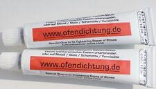 2 Dichtschnurkleber hitzebeständig feuerfest Kleber 1100° Asbestfrei Kamin 34ml