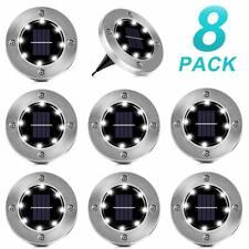 SEZAC Solar Ground Lights, éclairage solaire encastré au sol pour 8 LED