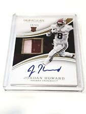 JORDAN HOWARD 2016 IMMACULATE RPA INDIANA HOOSIERS 2 CLR PATCH AUTO RC #D 70/99