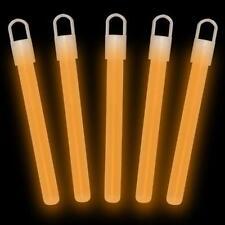 """200 4"""" ORANGE Glow Sticks Bulk Wholesale Pack w/ FREE 200 Glow Bracelets"""