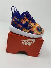 BABY GIRL: Nike Roshe One Print Shoes, Tie Dye - Size 2C 749354-501