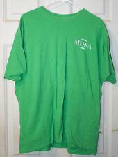 Raros de Madonna tripulación local sólo Carpas Verde T-shirt XL MDNA gira de conciertos oficial