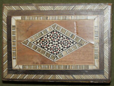 Vintage hand made inlaid mosaic inlaid box