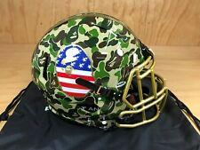 Adidas A Bathing Ape Riddell Bape Camo Collectible Football Helmet Green O/S