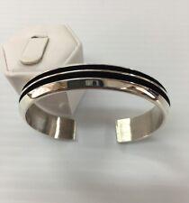 Native American Navajo Sterling Silver Cuff Bracelet Tom Hawk*