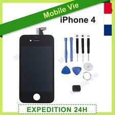 ECRAN IPHONE 4 NOIR VITRE TACTILE +RETINA ORIGINAL LCD SUR CHASSIS+OUTILS