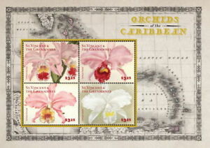 St. Vincent 2014 - Orchids of the Caribbean, Flowers - Sheet of 4 Stamps - MNH