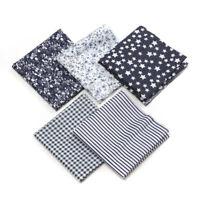 1 Set Stoff Patchworkstoffe Stoffreste Stoffpaket 100% Baumwolle Grau | 50x50cm