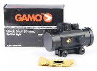 Gamo Quick Shot Red Dot Air Rifle Gun Pistol Scope - lens caps & 11mm mount rail