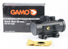 Gamo Quick Shot Red Dot Air Rifle Gun Pistol Scope - lens caps & 11mm mount rail