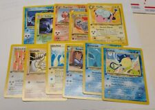 Pokemon Neo Revelation Lot of 12 Uncommon/Common 1st Editions NM Pack Fresh