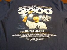 Derek Jeter New York Yankees 3000 3k Hits Graphic T Shirt Youth Medium K5