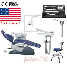 Fda Dental Chair Unit Tj2688 A1 Computer Control Hard Leather With Stool 2 Color