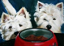 Mary Sparrow  Westie west highland white terrier dog PRINT